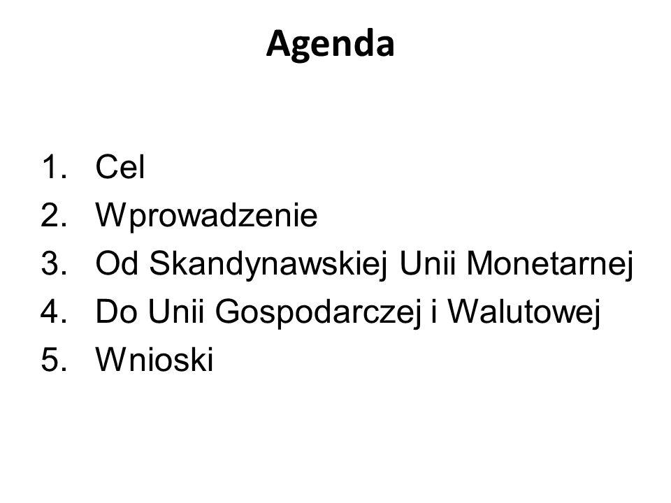 Agenda Cel Wprowadzenie Od Skandynawskiej Unii Monetarnej