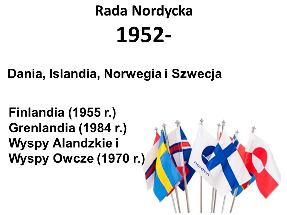 Rada Nordycka 1952- Dania, Islandia, Norwegia i Szwecja