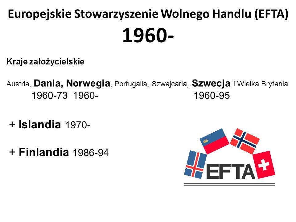 Europejskie Stowarzyszenie Wolnego Handlu (EFTA) 1960-