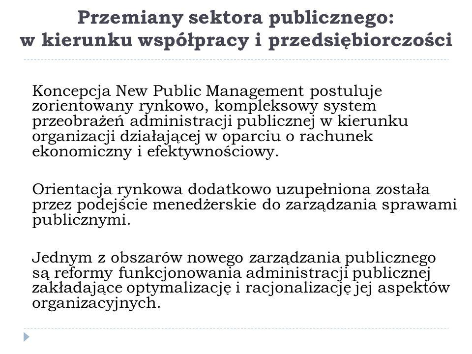 Przemiany sektora publicznego: w kierunku współpracy i przedsiębiorczości