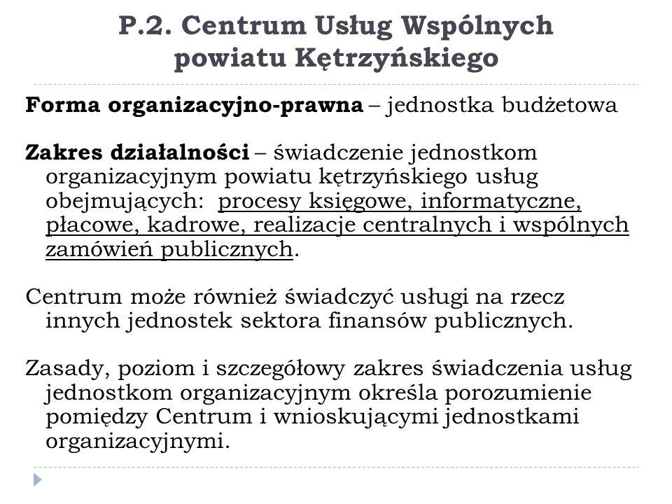 P.2. Centrum Usług Wspólnych powiatu Kętrzyńskiego