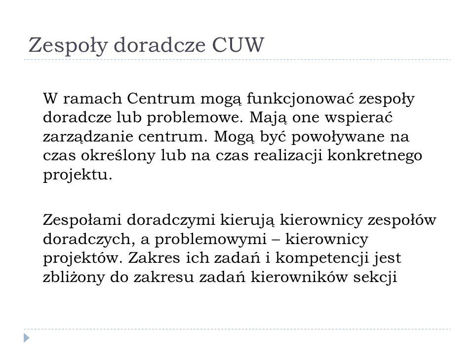 Zespoły doradcze CUW