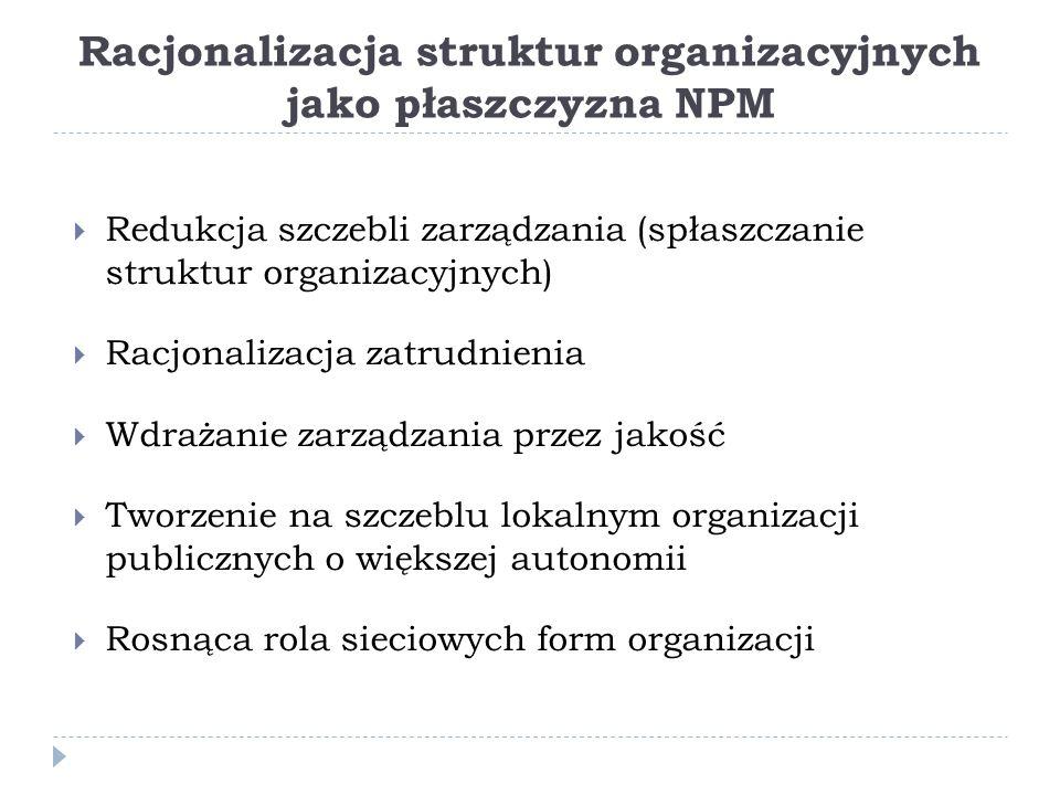 Racjonalizacja struktur organizacyjnych jako płaszczyzna NPM