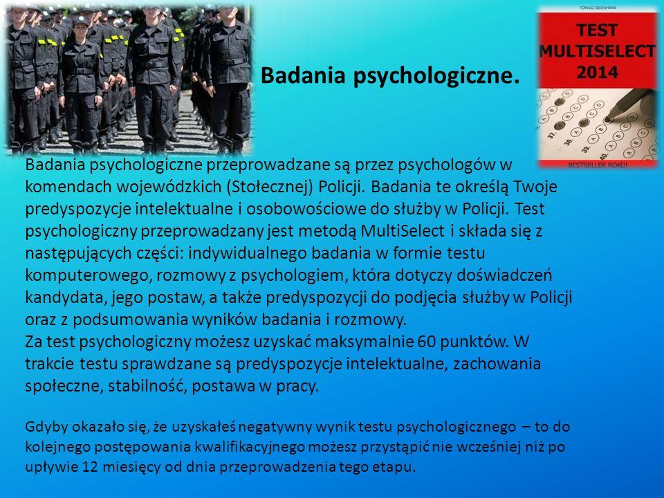 Badania psychologiczne.