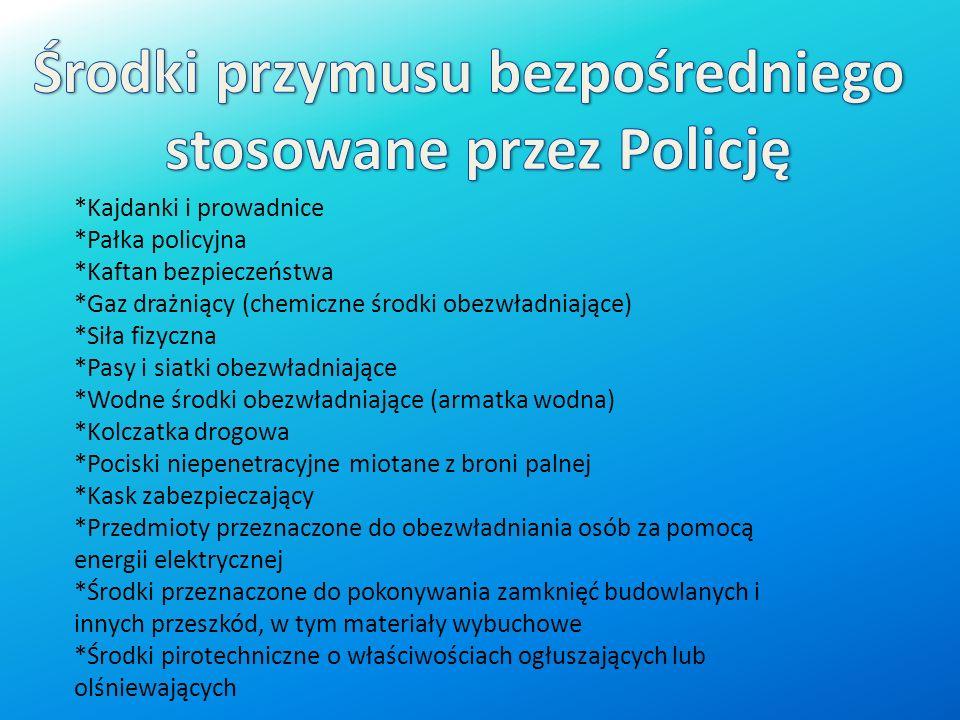 Środki przymusu bezpośredniego stosowane przez Policję