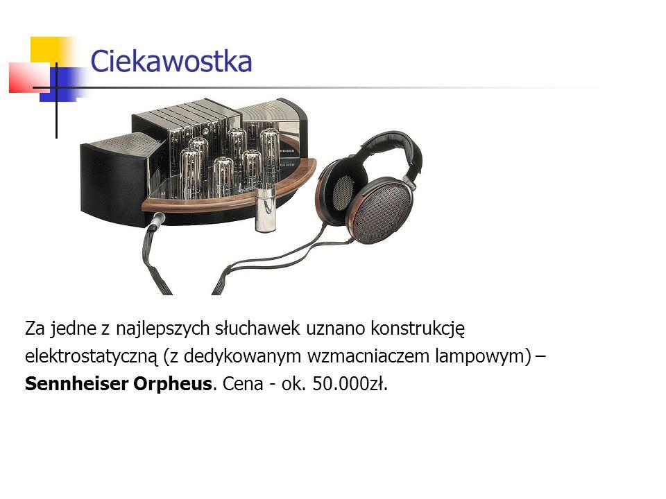 Ciekawostka Za jedne z najlepszych słuchawek uznano konstrukcję