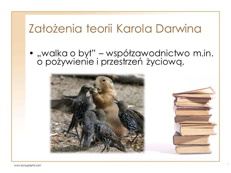Założenia teorii Karola Darwina