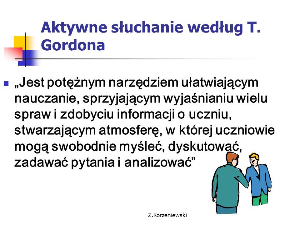Aktywne słuchanie według T. Gordona