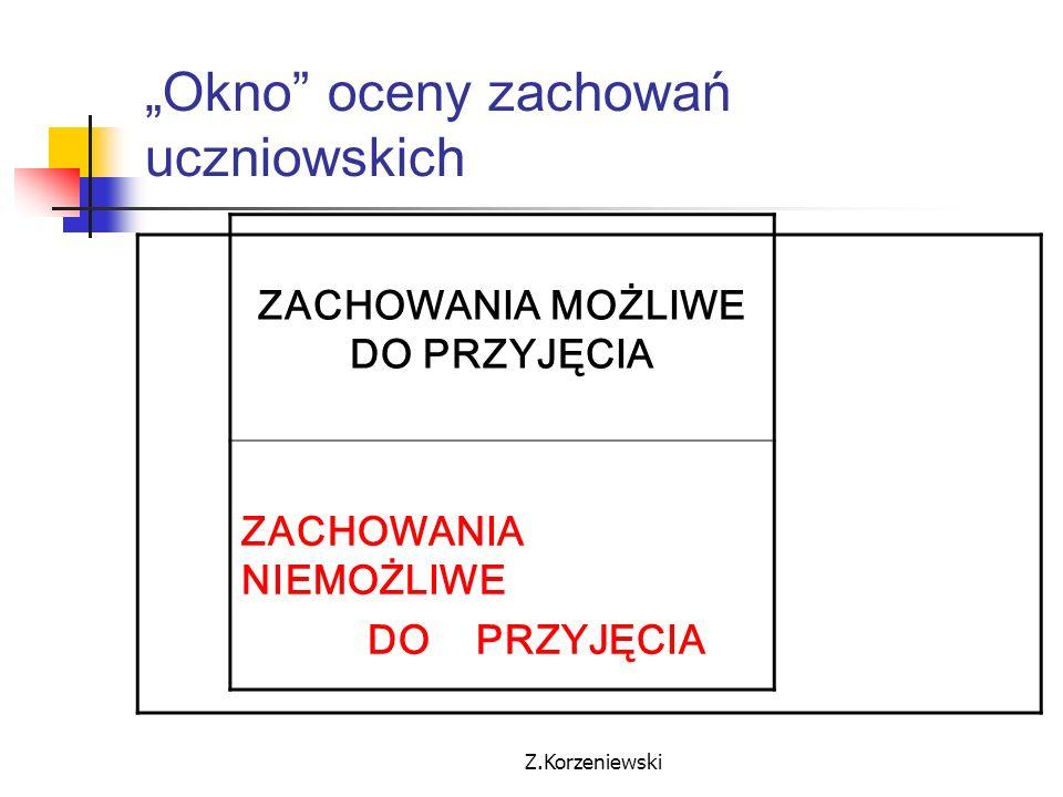 """""""Okno oceny zachowań uczniowskich"""