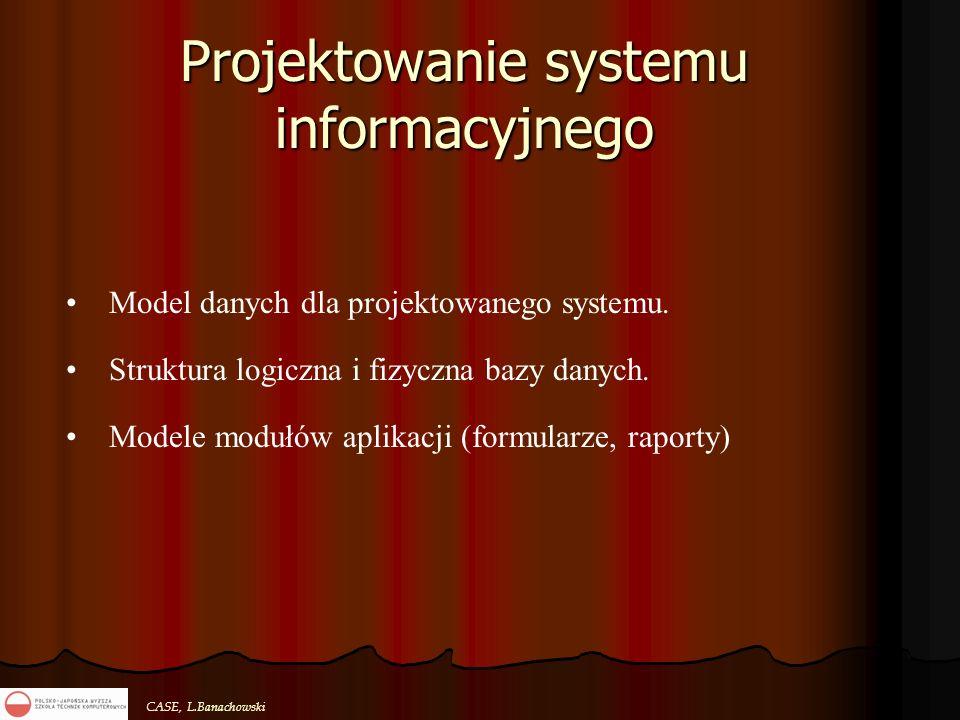 Projektowanie systemu informacyjnego