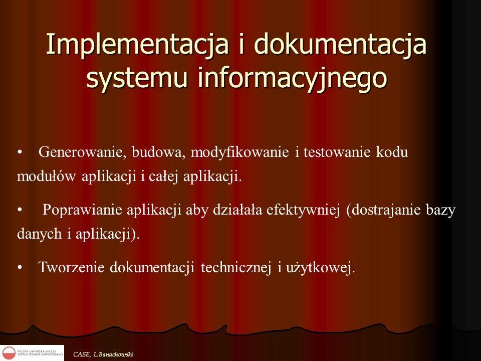 Implementacja i dokumentacja systemu informacyjnego