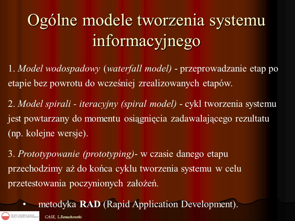 Ogólne modele tworzenia systemu informacyjnego