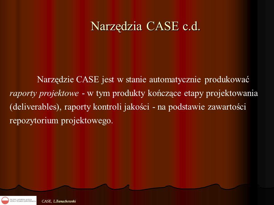 Narzędzia CASE c.d.