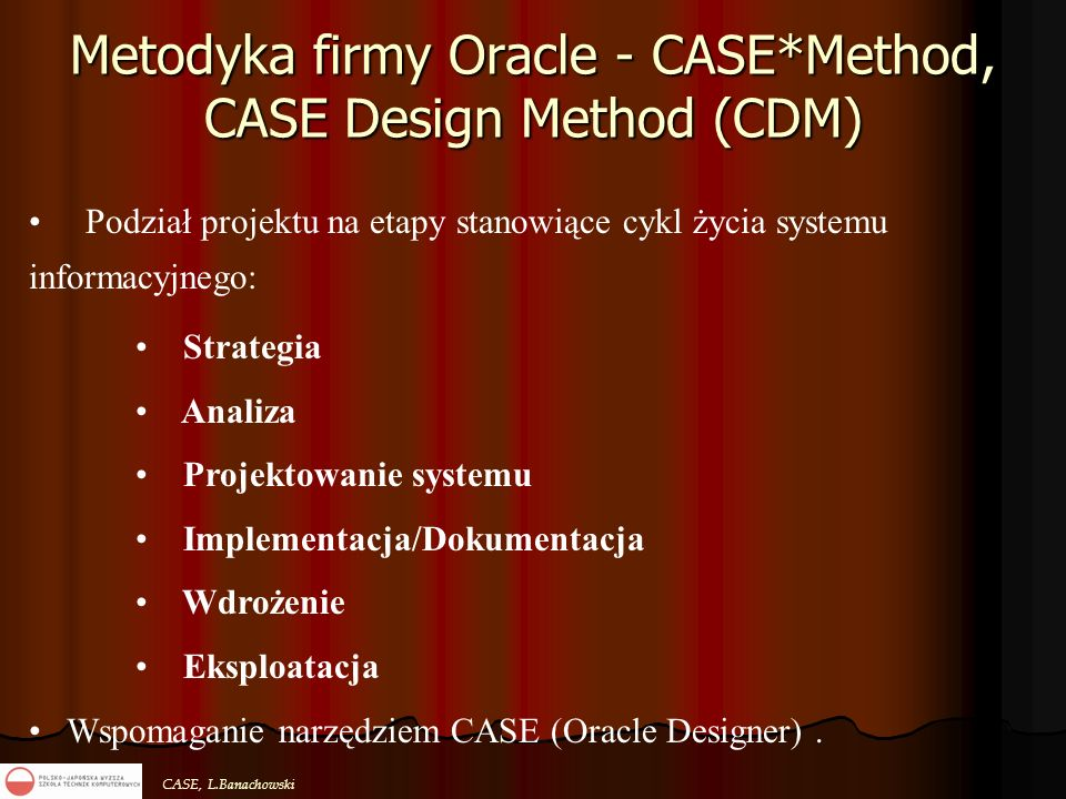 Metodyka firmy Oracle - CASE*Method, CASE Design Method (CDM)