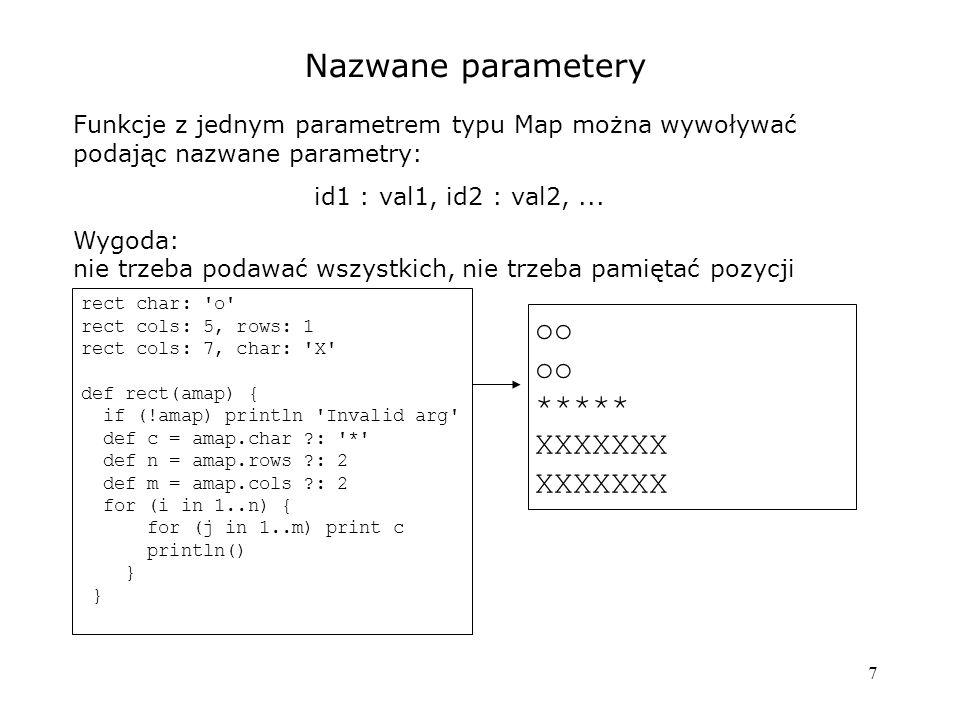 Nazwane parametery oo ***** XXXXXXX