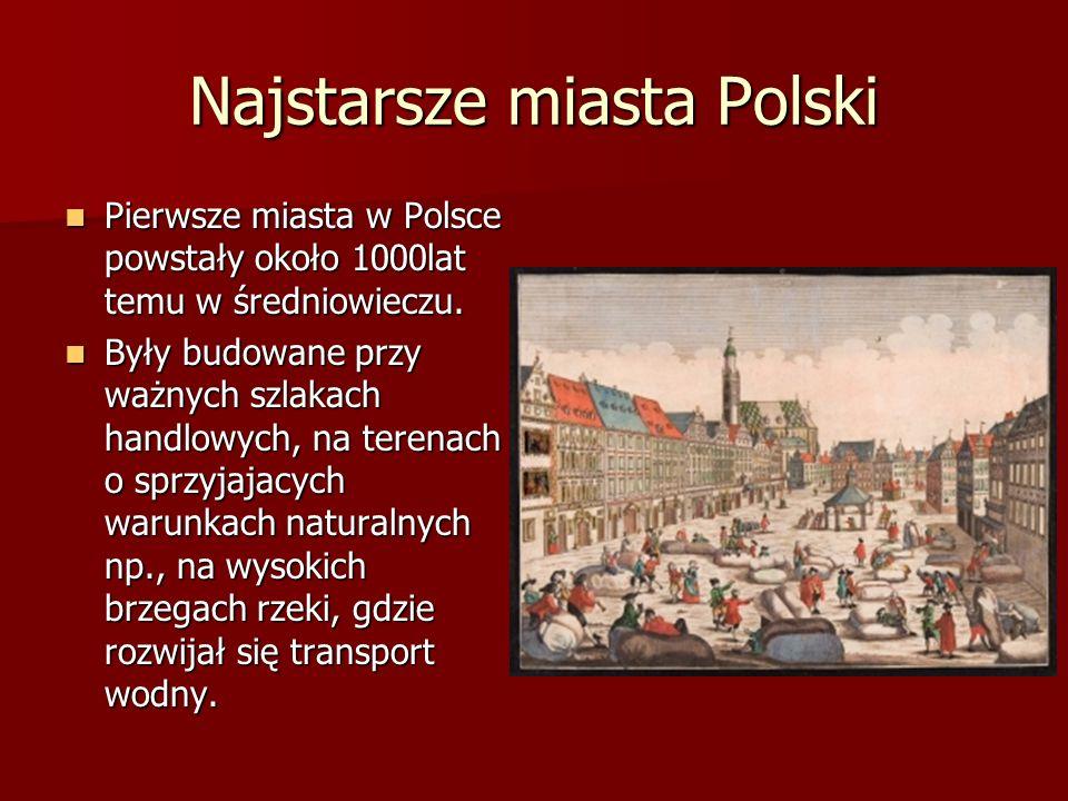 Najstarsze miasta Polski