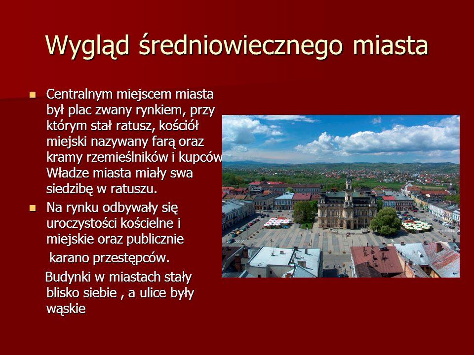 Wygląd średniowiecznego miasta