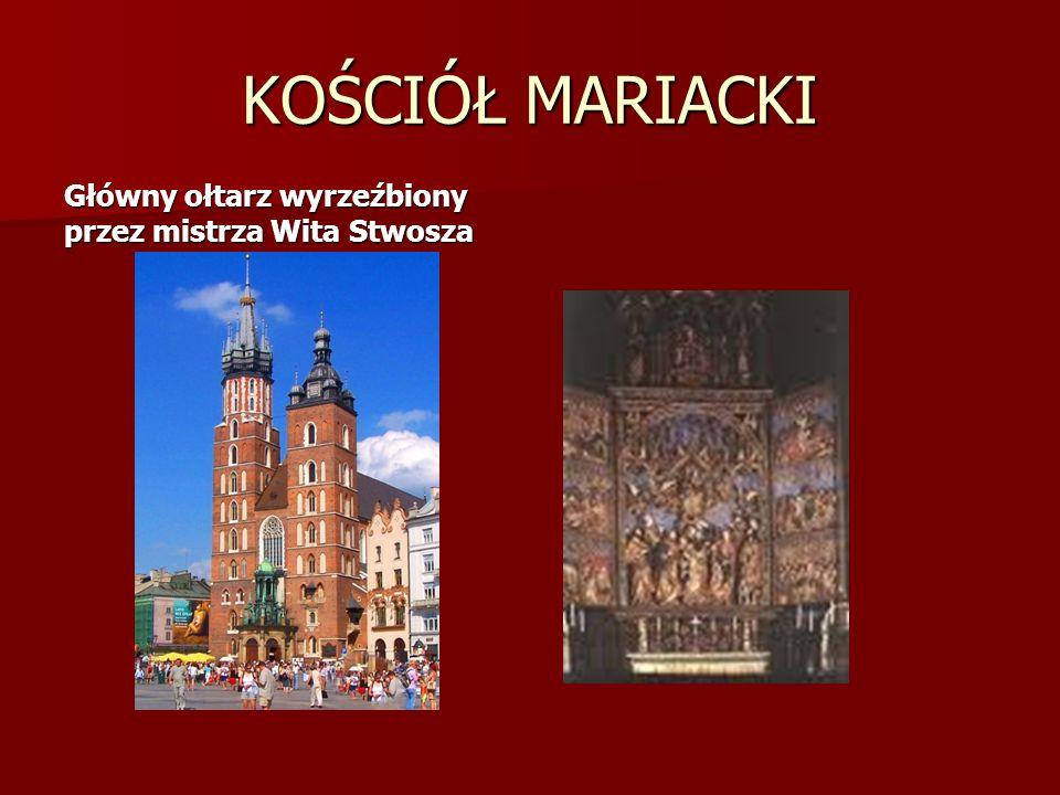 KOŚCIÓŁ MARIACKI Główny ołtarz wyrzeźbiony przez mistrza Wita Stwosza
