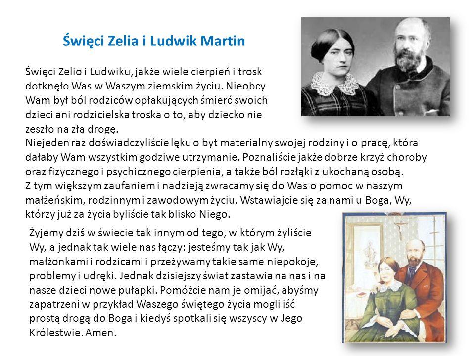 Święci Zelia i Ludwik Martin