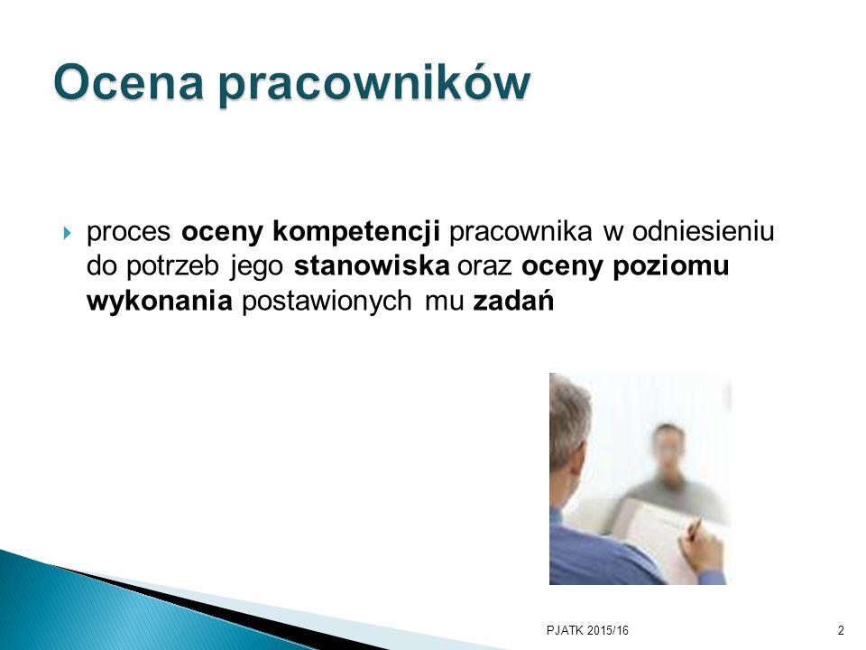 PKWSTK 2008/2009 Ocena pracowników.