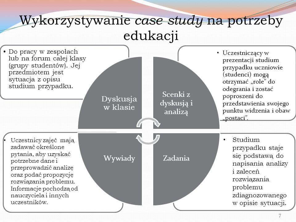 Wykorzystywanie case study na potrzeby edukacji