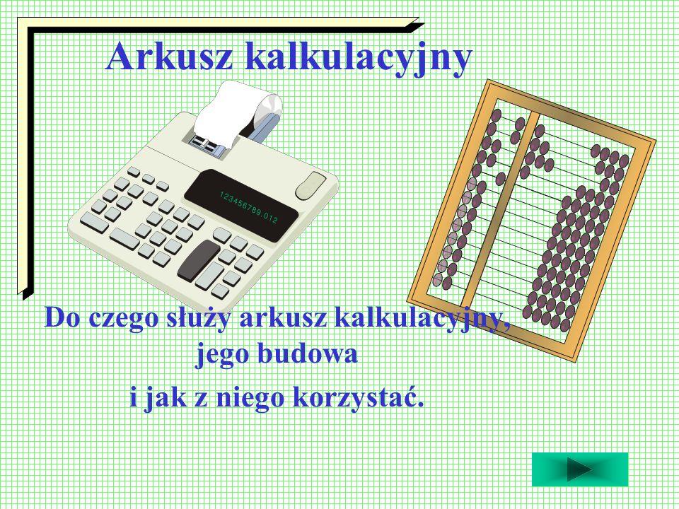 Do czego służy arkusz kalkulacyjny, jego budowa