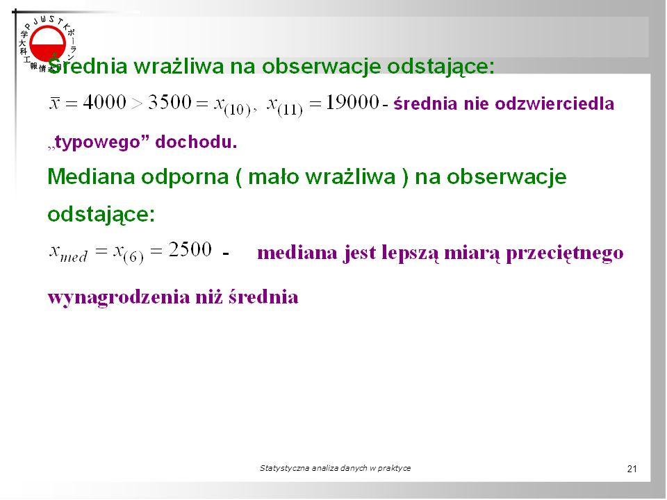 Statystyczna analiza danych w praktyce