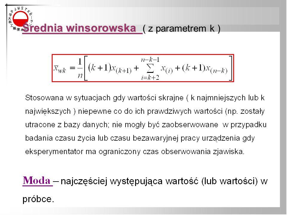 Średnia winsorowska ( z parametrem k )