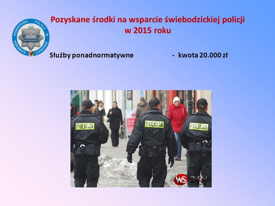 Pozyskane środki na wsparcie świebodzickiej policji w 2015 roku