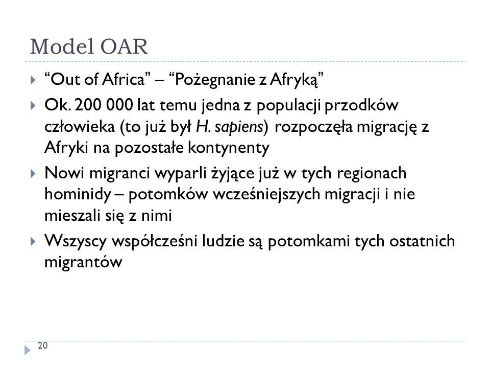 Model OAR Out of Africa – Pożegnanie z Afryką
