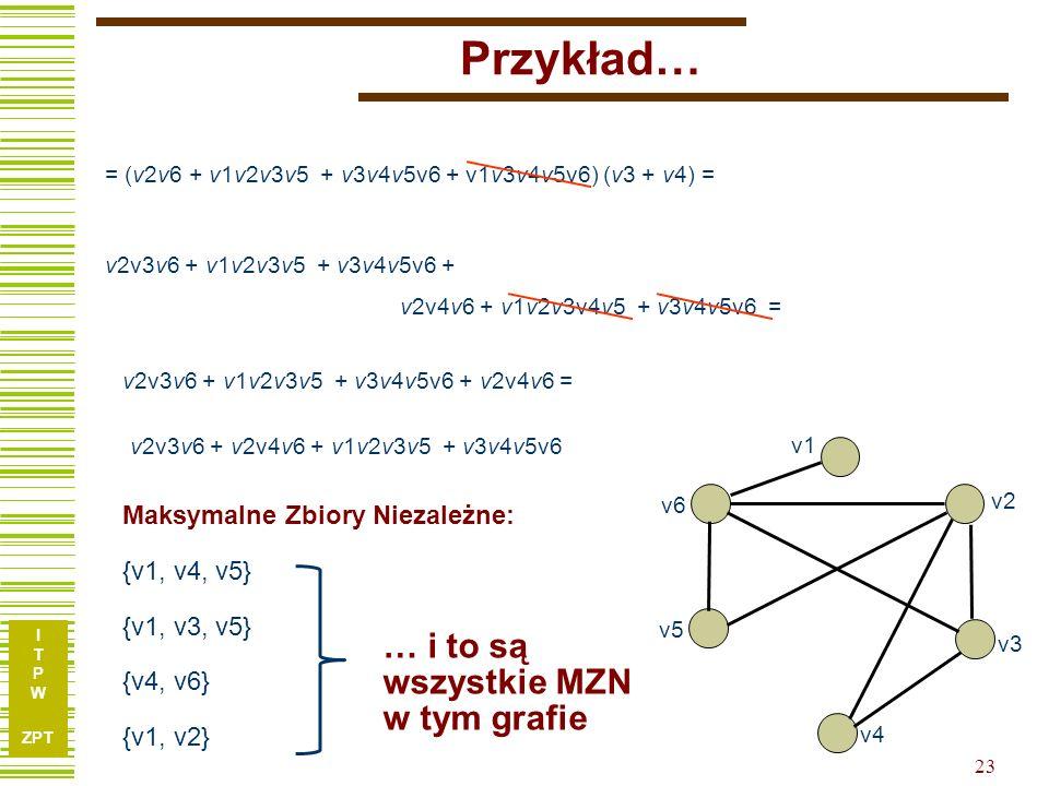 Przykład… … i to są wszystkie MZN w tym grafie