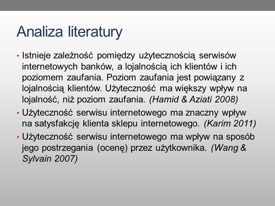Analiza literatury