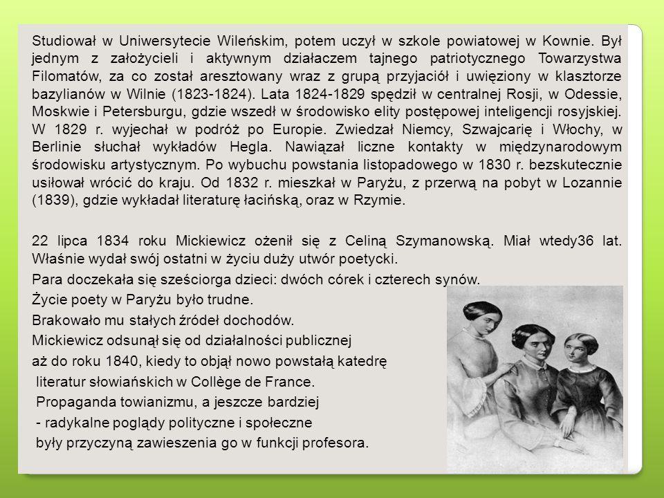 Studiował w Uniwersytecie Wileńskim, potem uczył w szkole powiatowej w Kownie.