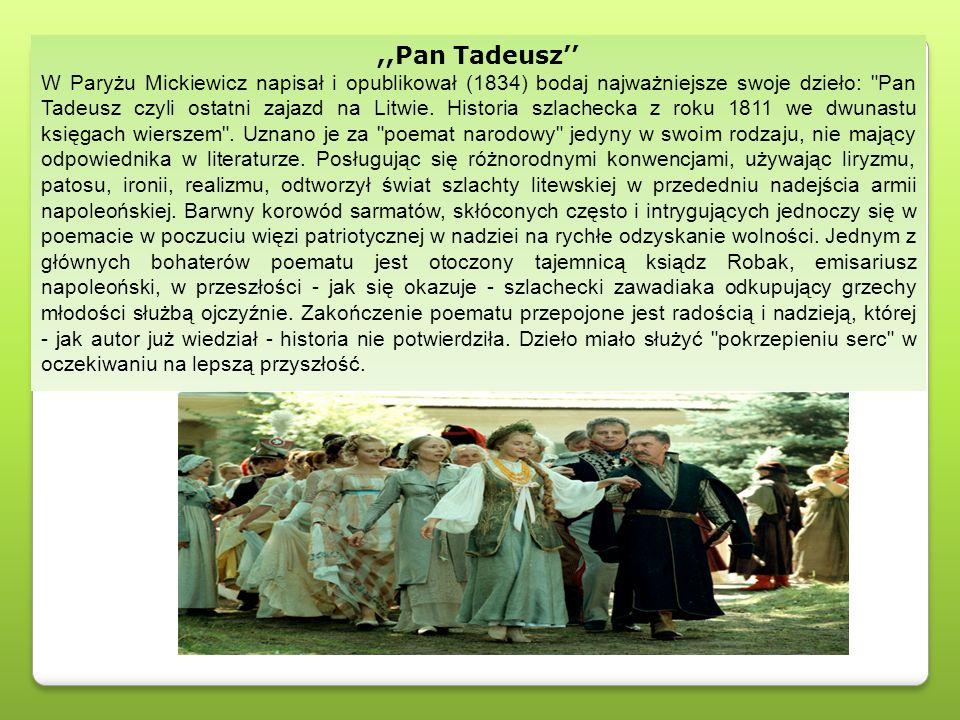 ,,Pan Tadeusz''