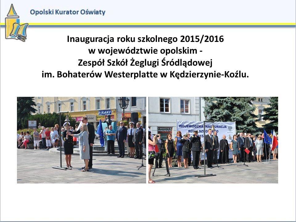 Inauguracja roku szkolnego 2015/2016 w województwie opolskim -