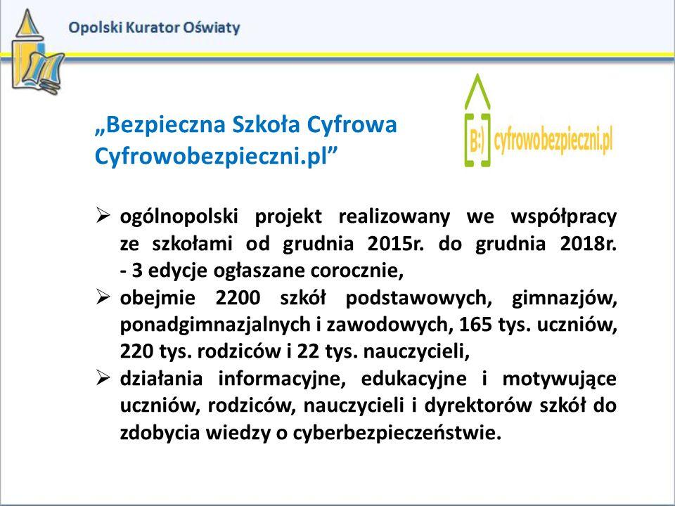 """""""Bezpieczna Szkoła Cyfrowa Cyfrowobezpieczni.pl"""