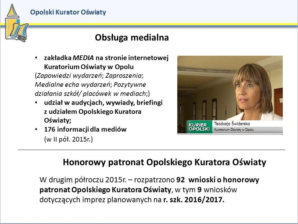Honorowy patronat Opolskiego Kuratora Oświaty