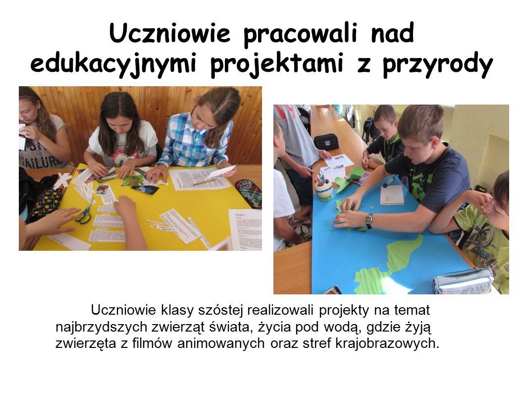 Uczniowie pracowali nad edukacyjnymi projektami z przyrody