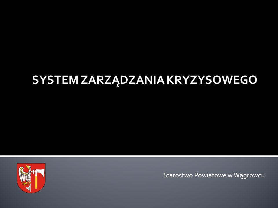 SYSTEM ZARZĄDZANIA KRYZYSOWEGO Starostwo Powiatowe w Wągrowcu