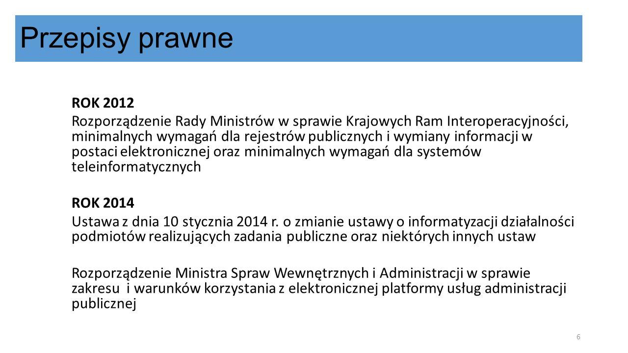 Przepisy prawne ROK 2012.