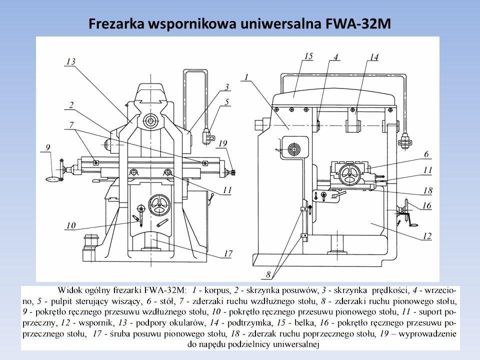 Frezarka wspornikowa uniwersalna FWA-32M