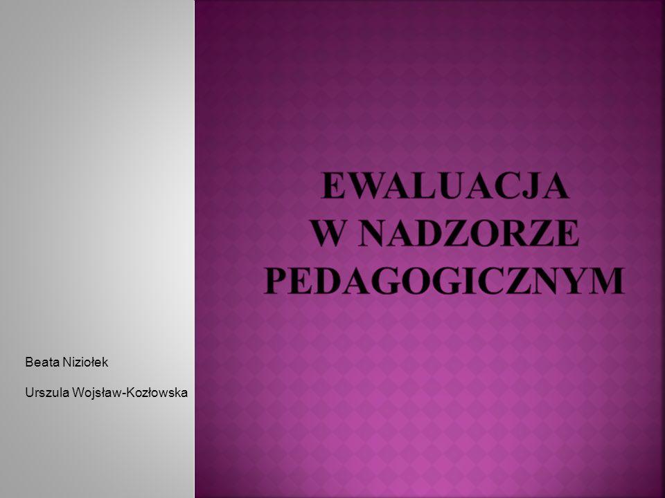 Ewaluacja w nadzorze pedagogicznym