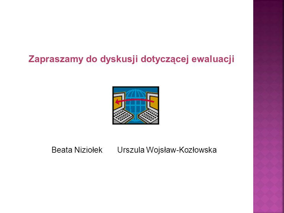 Beata Niziołek Urszula Wojsław-Kozłowska