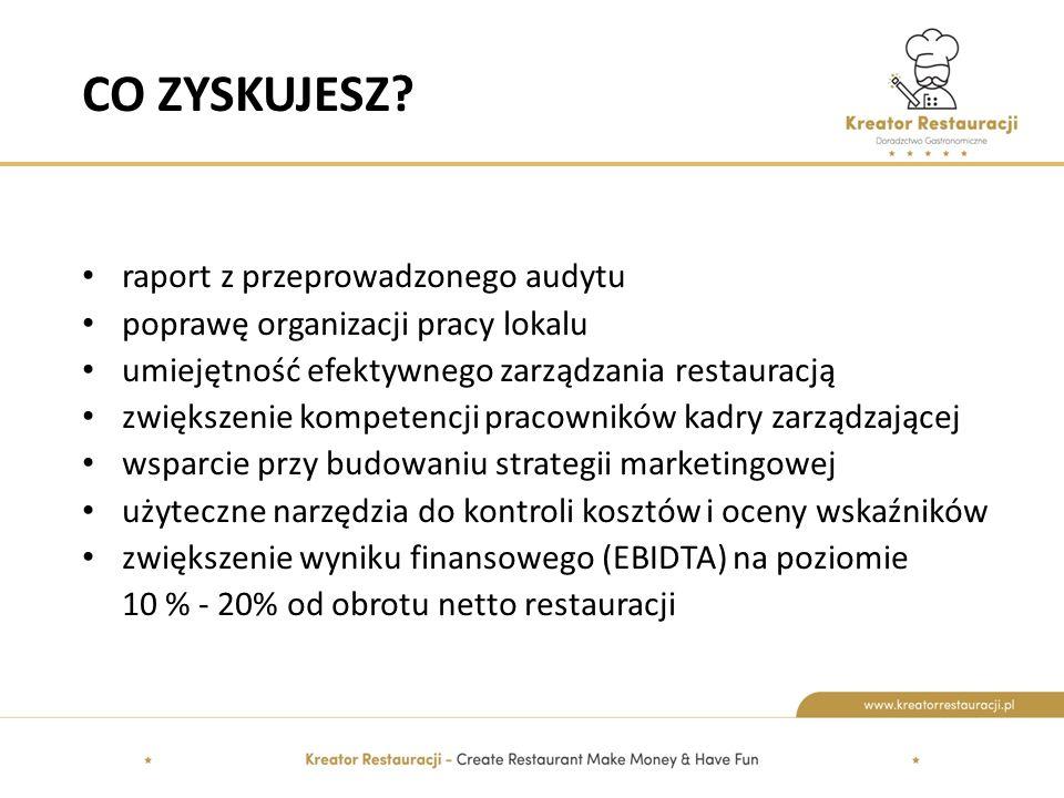 CO ZYSKUJESZ raport z przeprowadzonego audytu