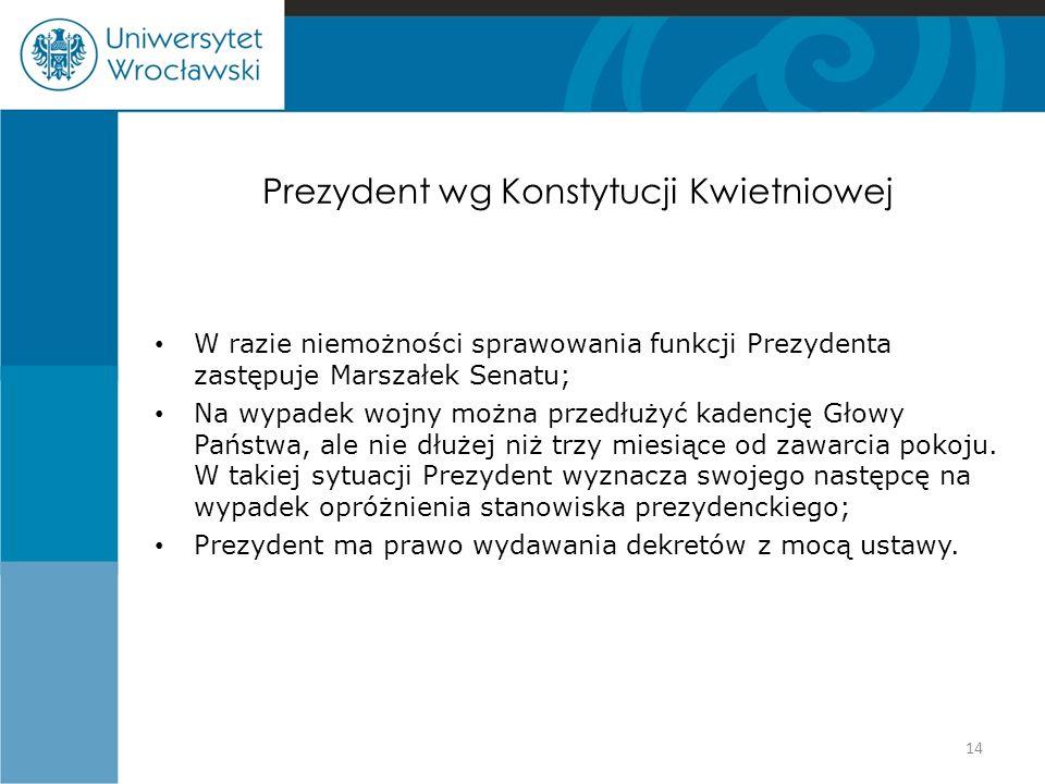 Prezydent wg Konstytucji Kwietniowej