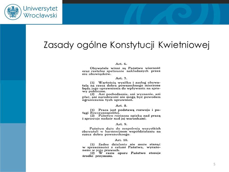 Zasady ogólne Konstytucji Kwietniowej
