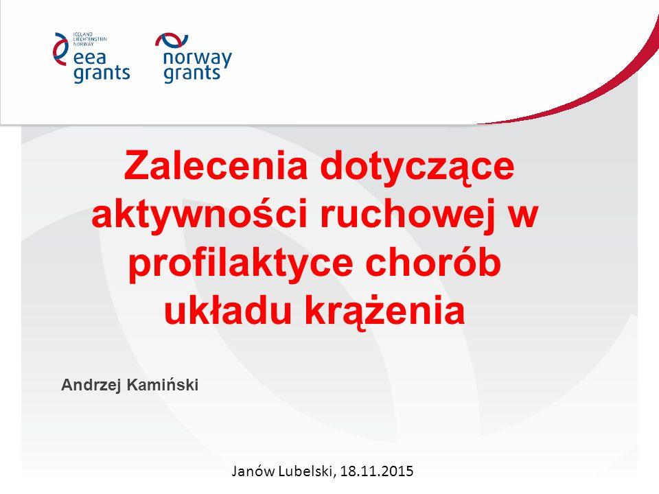 Zalecenia dotyczące aktywności ruchowej w profilaktyce chorób układu krążenia