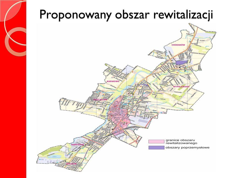 Proponowany obszar rewitalizacji