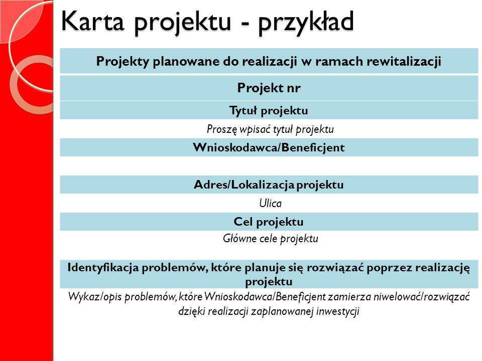 Karta projektu - przykład