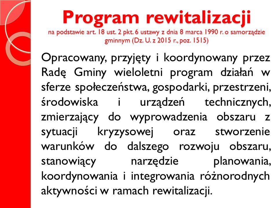 Program rewitalizacji na podstawie art. 18 ust. 2 pkt